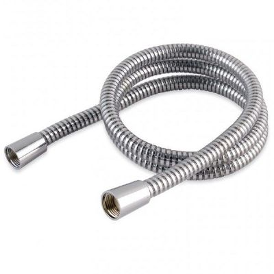 Plastic Coated Chrome Shower Hose Large Bore 1.25 Metre
